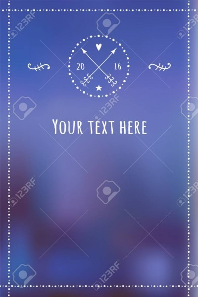 Vector Blue Winter Template For The Invitation With Handdrawn