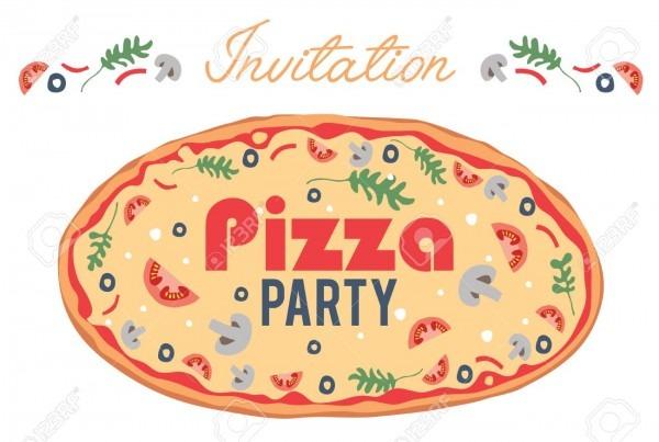 Vector Pizza Party Invitation Poster Flyer Card  Dinner  Social