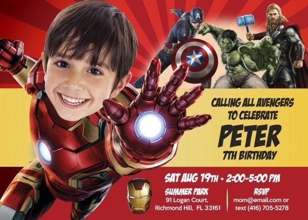 Ironman Birthday Invitation  Iron Man Party Ideas  Ironman