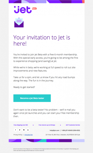 Jet Com Sent This Email With The Subject Line  Your Jet Invitation