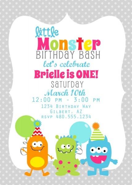 Monster Invites  Etsy Invite Printables & More