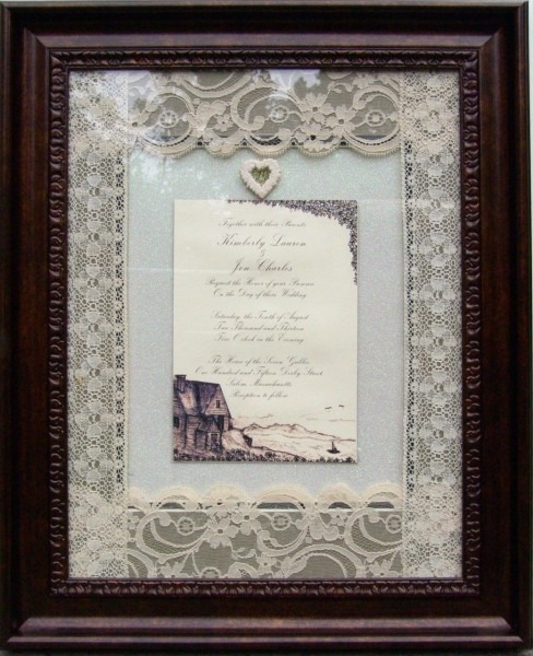 Custom Made & Framed Personalized Wedding Invitation Preservation