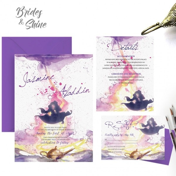 Gold Coast Wedding Invitations: Aladdin Wedding Invitations