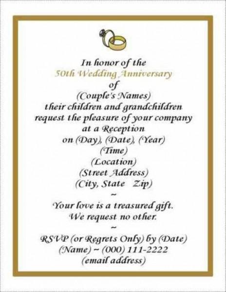 16 Wedding Anniversary Templates Free Images