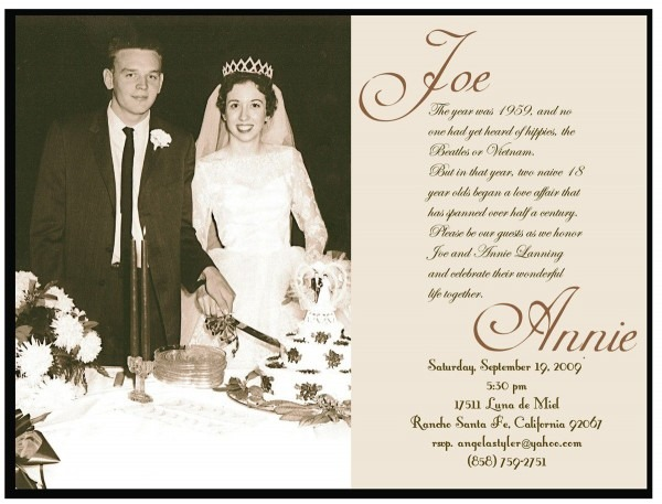 50th Wedding Anniversary Invitations Free Templates ~ Wedding