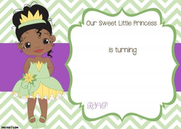 Free Printable Princess Tiana Birthday Invitation