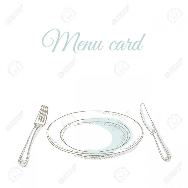 Empty Plate, Fork And Knife  Tableware  Invitation To Dinner