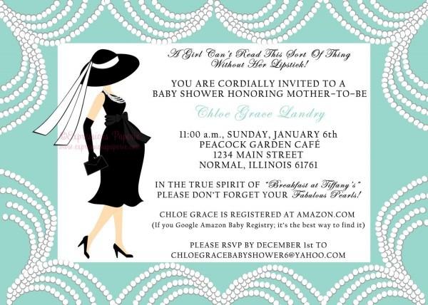 Breakfast At Tiffanys Baby Shower Invitation