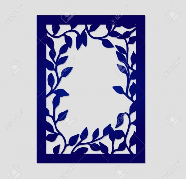 Abstract Vector Frame With Tree Branches  May Be Used For Laser