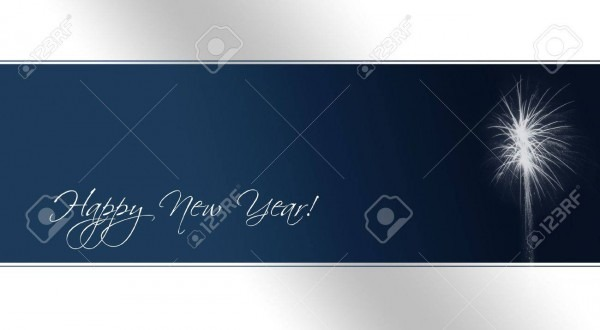 A Card As Template For New Year's Eve Invitations With Fireworks