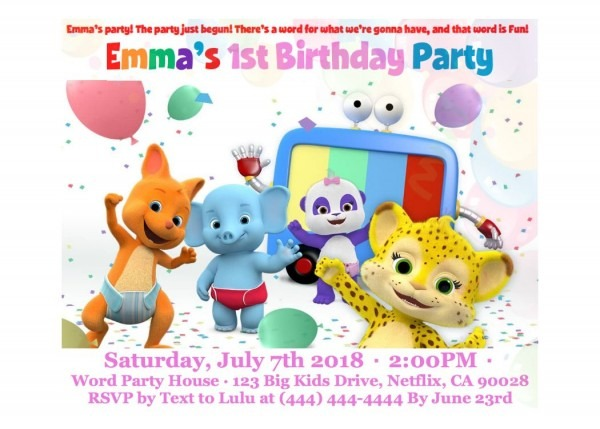 Word Party Netflix Birthday Card