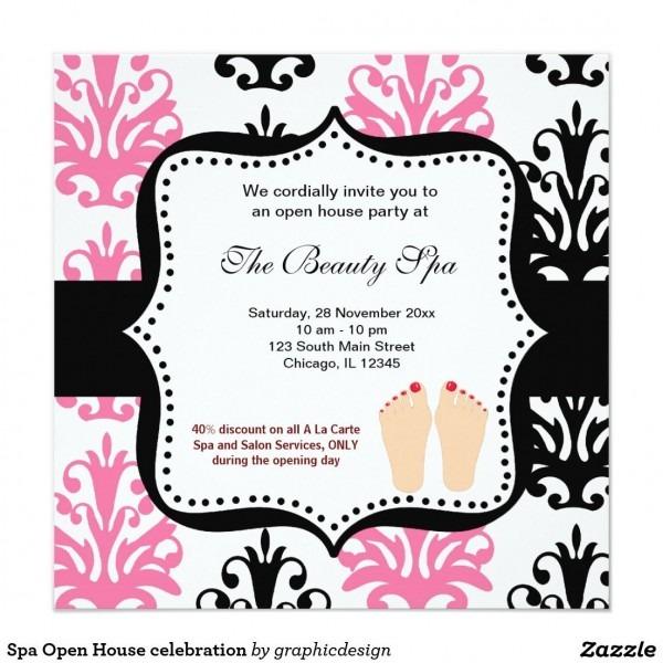 Spa Open House Celebration Invitation