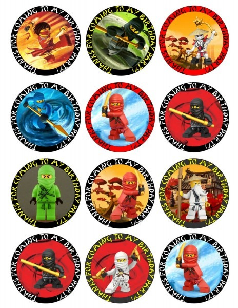 Ninjago Free Printable Toppers, Labels, Images And Invitations