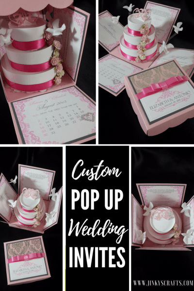 Custom Exploding Box Invitation Wedding Samples