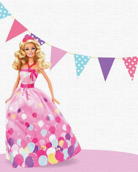 Editable Barbie Invitation Card