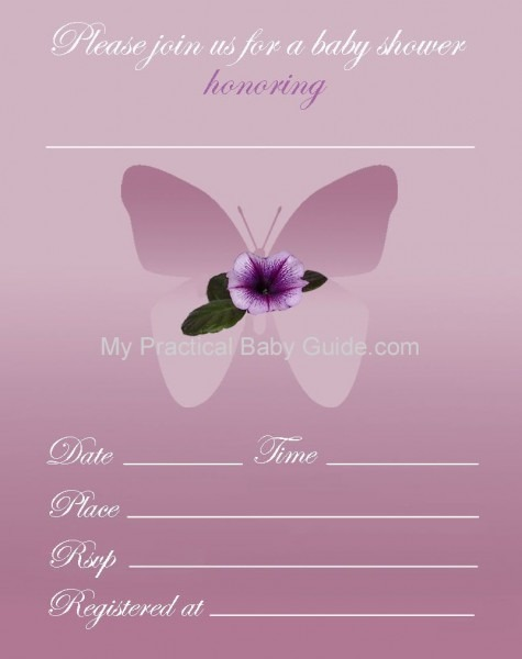 Free Printable Girl Baby Shower Invitations