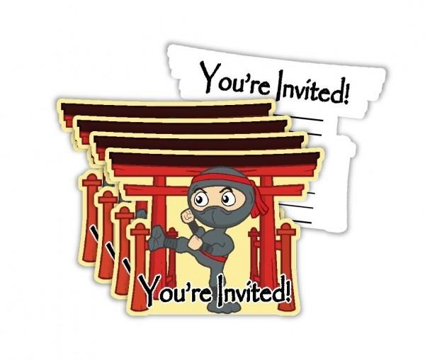 Amazon Com  Ninja Warrior Birthday Party Invitations & Envelopes