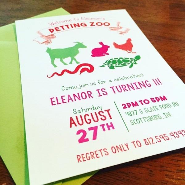 Amazon Com  Petting Zoo Party Invitations  Handmade