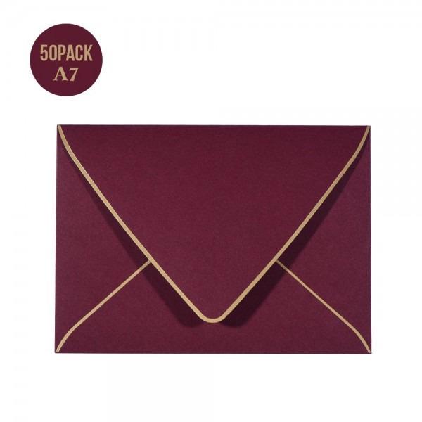 Amazon Com   A7 Luxury Burgundy Invitation Envelopes 5 X 7