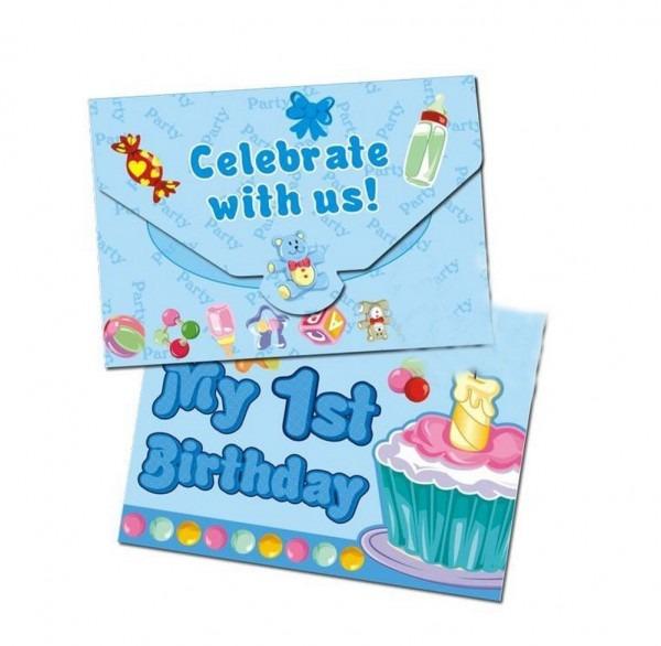 Amazon Com  Panda Superstore Baby Boy 1st Birthday Invitation