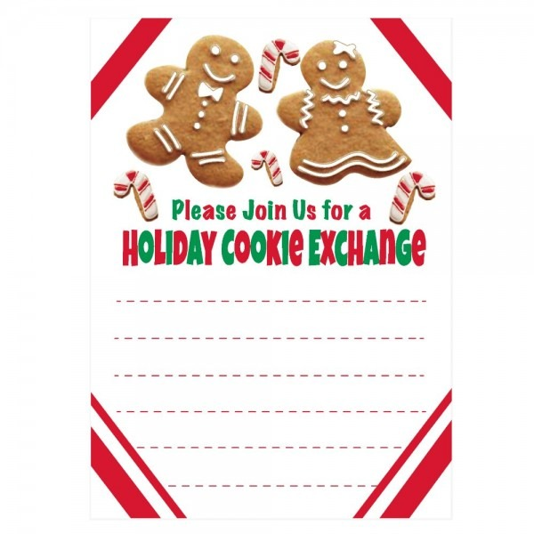 Amazon Com  Holiday Cookie Exchange Invitations