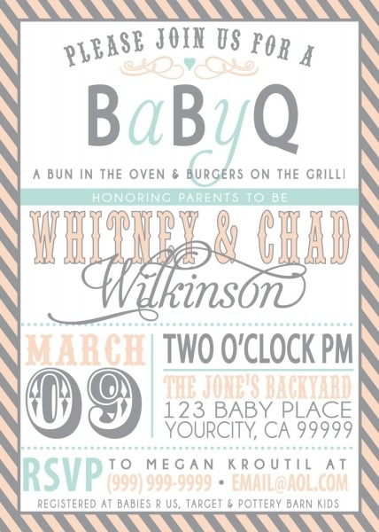 Couples Bbq Baby Shower Invitation  Awesome Idea! People Can Come