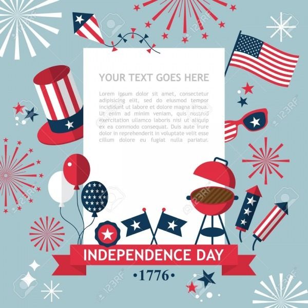 4th Of July, Independence Day Of The Usa, Party Invitation