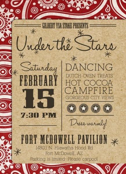 Cowboy Western Theme Invitation