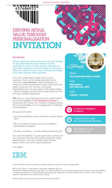 Ibm Invitation Email Design