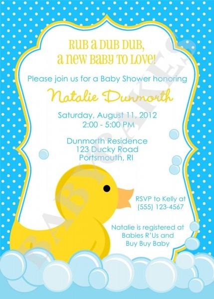 Cute Duck Invitation