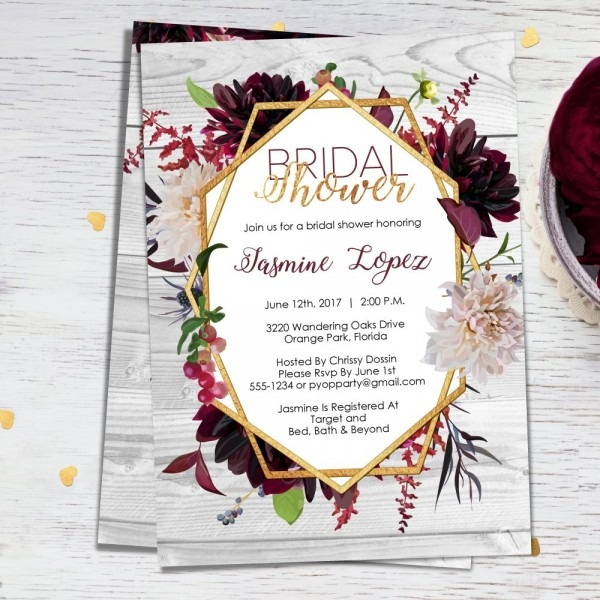 Amazon Com  Bridal Shower Invitations