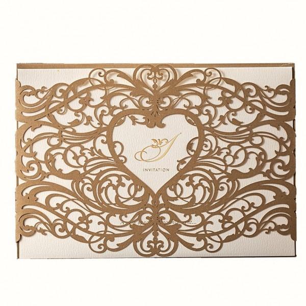 Amazon Com  50 Wishmade Heart Design Gold Laser Cut Printable