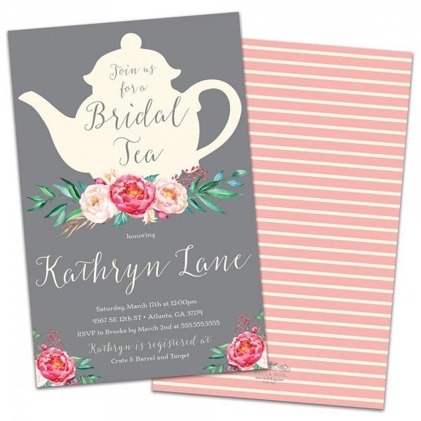 Amazon Com  Tea Time Personalized Bridal Shower Invitations
