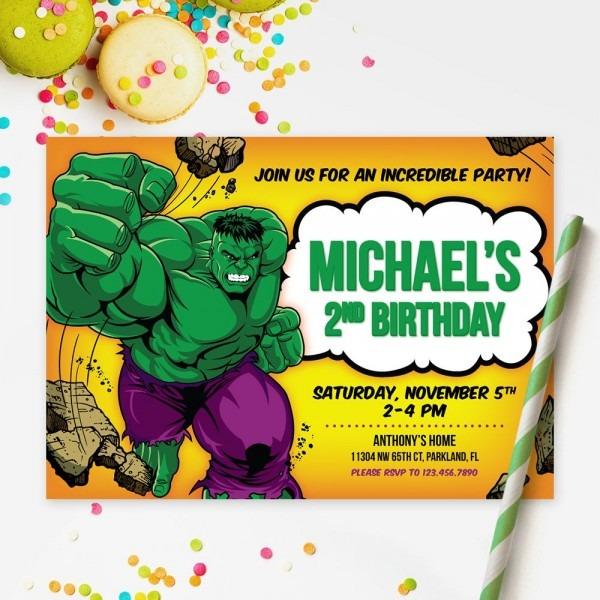 Incredible Hulk Invitation
