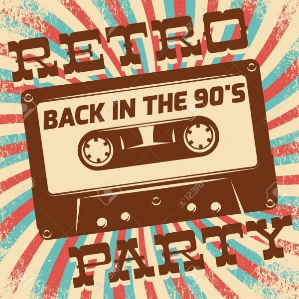 Retro Party Poster Design  Disco Music Event At Night Club