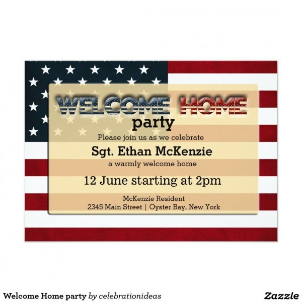 Welcome Home Party Invitation