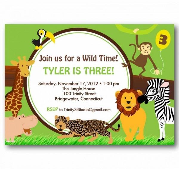 Zoo Invitations