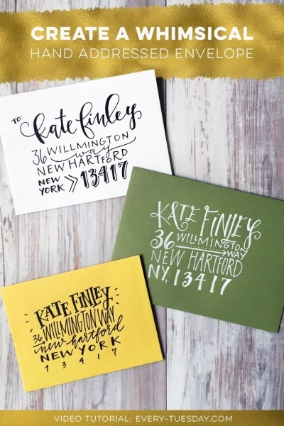 Create A Whimsical Hand Addressed Envelope