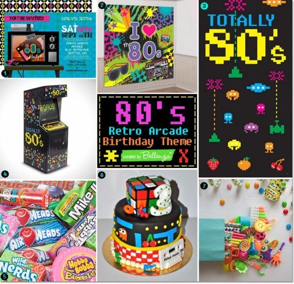 80s Retro Arcade Birthday Theme  Totally Cool Ideas!