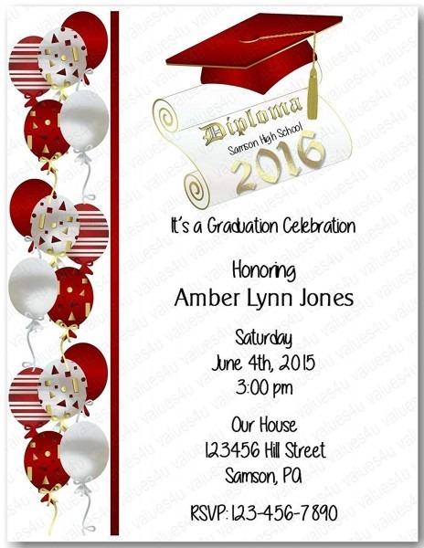 Amazon Com  Personalized Graduation Party Invitation (graduation