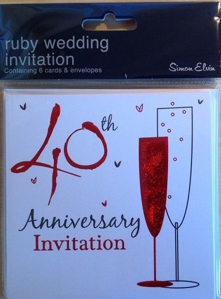 Amazon Com   40th Ruby Wedding Anniversary Party Invitations
