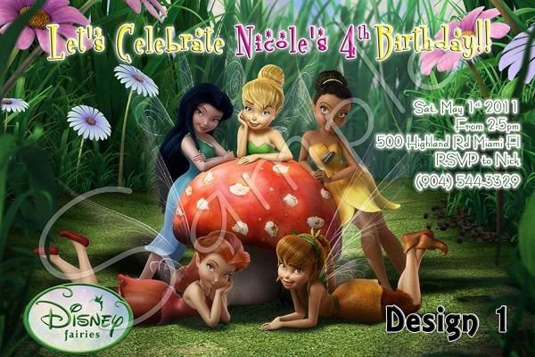 Amazon Com  Tinkerbell Fairies Personalized Birthday Invitations