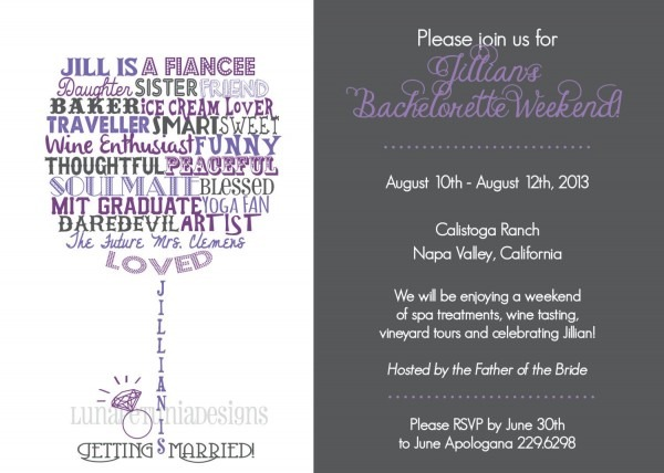 Wine Glass   In Words To Describe Honoree   Invitation   Any