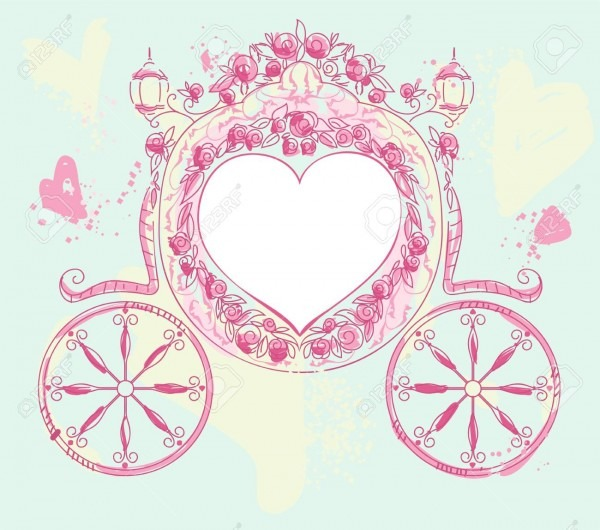 Wedding Carriage Heart Shaped Decorated With Roses  Wedding