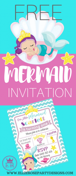 Free Mermaid Under The Sea Invitation Template To Download  Step