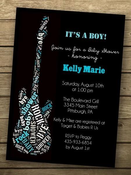 Rock A Bye Baby Shower Invitation