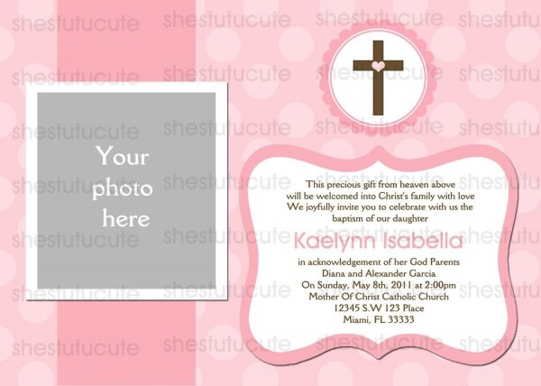 Girls Baptism Invitations Digital File By Shestutucutebtq On Etsy