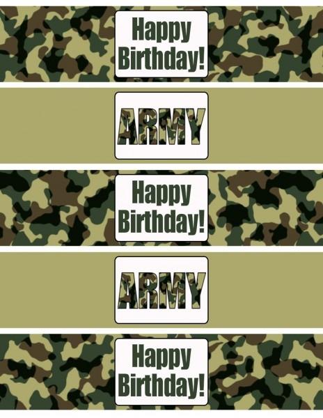 Army Birthday Party Printables