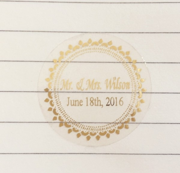 90 Pcs 3 Cm Wedding Decoration Favors Stickers Personalise Custom