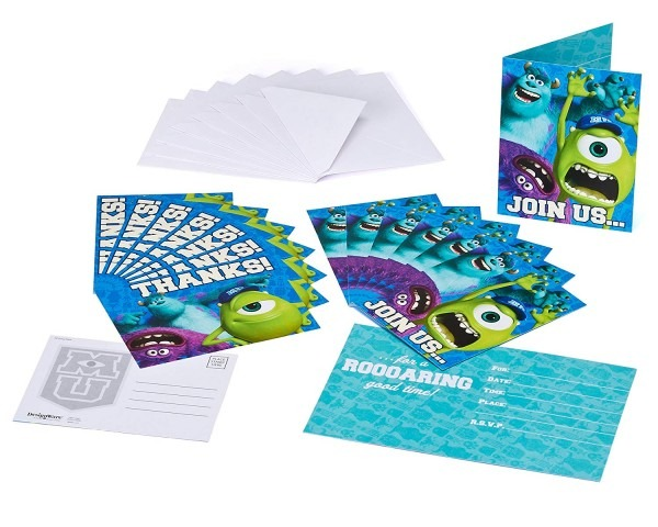Amazon Com  Monsters University Invite And Thank You Combo, 8 Pack